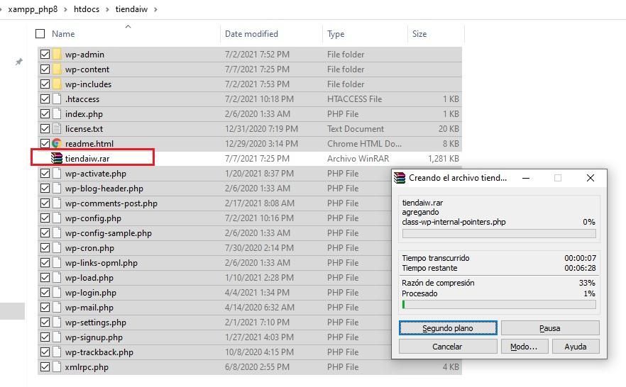migrar_sitio_wordpress_comprimir_archivos